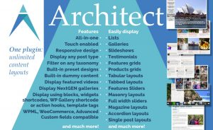 Architect for wordpress: Build slider, grid, masonry, tabbed, tabular and accordion layouts with one plugin