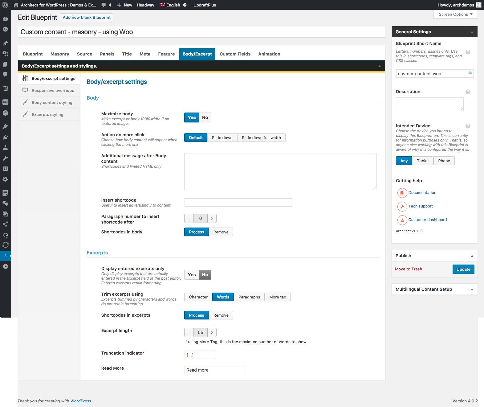 Architect all in one content layout plugin for wordpress blueprint editor bodyexcerpt malvernweather Gallery
